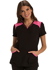 Heartsoul Hs652  Heart Zips A Beat V-Neck Top at GotApparel