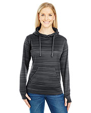 J America Ja8662   ' Odyssey Striped Poly Fleece Lapover Hood at GotApparel