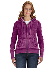 J America Ja8913   ' Zen Full-Zip Fleece Hood at GotApparel