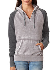 J America J8926 Women Zen Contrast Hooded Fleece at GotApparel
