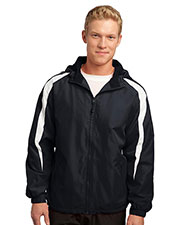Sport-Tek JST81 Men Fleece-Lined Colorblock Jacket at GotApparel