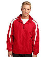 Sport-Tek JST81 Men Fleece Lined Colorblock Jacket at GotApparel