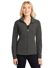 Port Authority L235  ®  Ladies Heather Microfleece Full-Zip Jacket. at GotApparel
