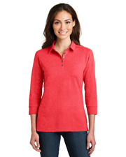 Port Authority L578 Women 3/4-Sleeve Meridian Cotton Blend Polo at GotApparel
