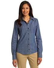 Port Authority L652 Women Patch Pockets Denim Shirt at GotApparel