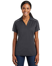 Sport-Tek LST653 Women Micropique Sport-Wick Piped Polo at GotApparel