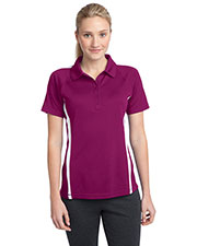 Sport-Tek LST685 Women PosiCharge ™ MicroMesh Colorblock Polo at GotApparel