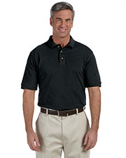 Harriton M200T Men Tall 6 oz. Ringspun Cotton Pique short sleeve Polo at GotApparel
