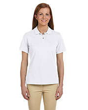 Harriton M200W Women's 6 oz. Ringspun Cotton Pique Short-Sleeve Polo at GotApparel