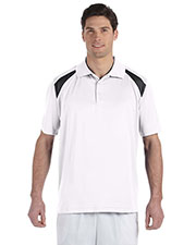 Harriton M318 Men 4 oz. Polytech Colorblock Polo at GotApparel