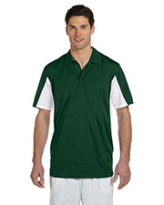 Harriton M355 Men Side Blocked Micro Pique Polo at GotApparel