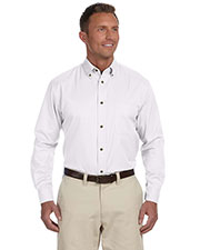 Harriton M500T Men Tall Easy Blend Long-Sleeve Twill at GotApparel