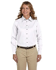 Harriton M500W Women Easy Blend LongSleeve Twill Shirt with Stain Release at GotApparel