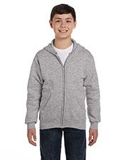 Hanes P480 Boys 7.8 Oz. Comfort Blend Eco Smart 50/50 Full-Zip Hood at GotApparel