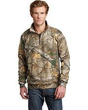 Russell Outdoor RO78Q Adult Men Realtree 1/4Zip Sweatshirt at GotApparel