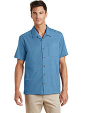 Port Authority S662 Adult Textured Camp Shirt at GotApparel