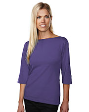 Tri-Mountain 139 Women Cypress 3/4 Sleeve Boat Neck Knit Shirt at GotApparel
