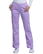 Cherokee Workwear Ww110p  Mid Rise Straight Leg Pull-On Pant at GotApparel