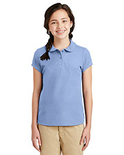 Port Authority YG503 Boys Silk Touch Peter Pan Collar Polo at GotApparel