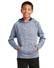 Sport-Tek® YST225 Youth PosiCharge® Electric Heather Fleece Hooded Pullover at GotApparel