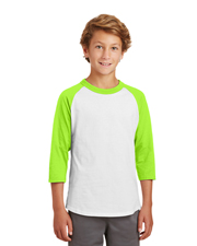 Sport-Tek® YT200 Boys Colorblock Raglan Jersey at GotApparel