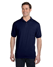 Hanes 054P Men 5.2 oz., 50/50 EcoSmart Jersey Pocket Polo
