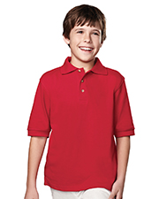 Tri-Mountain 090  Youth 60/40 Short Sleeve Pique Golf Shirt at GotApparel