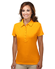 TRI-MOUNTAIN PERFORMANCE 103 Women Stamina Poly Ultracool Waffle Knit Golf Shirt With Self-Fabric Collar