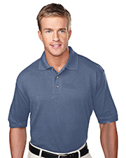 Tri-Mountain 105 Men Profile Short Sleeve Pique Golf Shirt With Clean-Finished Placket