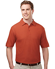 TRI-MOUNTAIN PERFORMANCE 107 Men Endurance Poly Ultracool Waffle Knit Golf Shirt With Self-Fabric Collar