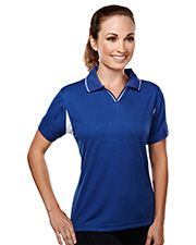 TRI-MOUNTAIN PERFORMANCE 114 Women Movement Poly Ultracool Waffle Short Sleeve Knit Golf Shirt