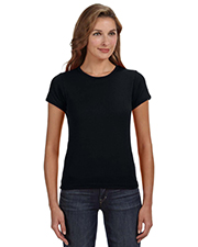 Anvil 1441 Women 1x1 Baby Rib Scoop T-Shirt