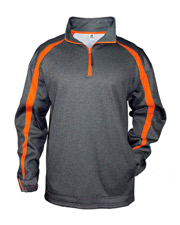 Badger 1481     Adult Pro Heathered Fleece Fusion ¼ Zip Front Shirt  at GotApparel