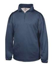 Badger 1483     Adult Pro Heathered Fleece 1/4 Zip Sweatshirt  at GotApparel