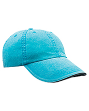 Anvil 166 Unisex Solid Low-Profile Sandwich Trim PigmentDyed Twill Cap