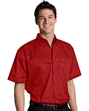 Edwards 1740 Men s Big & Tall Left Chest Pocket Short-Sleeve Twill Shirt at GotApparel