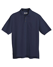 Tri-Mountain 206 Men Engineer Stain Resistant Pique Pocketed Short Sleeve Golf Shirt