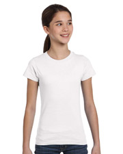 Girl's Fine Jersey Longer Length T-Shirt