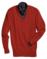 Edwards 265 Men Ribbed Collar Interlock Stitch Long Sleeve V-Neck Sweater at GotApparel