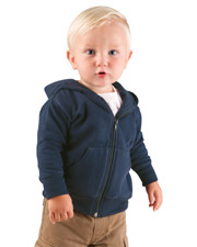 Rabbit Skins 3446  Infant Zip SS w Hood at GotApparel