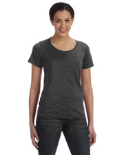 Bella Ladies Sheer Scoop Neck T-Shirt