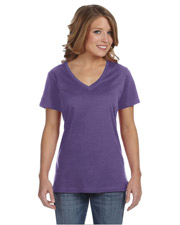 Anvil 392A Women Ladies' Ringspun Featherweight VNeck TShirt