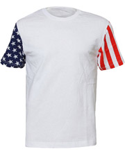 Code V 3976  CF Adult Stars Stripes Tee at GotApparel