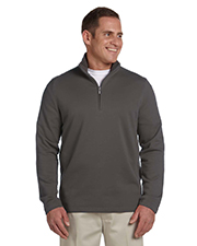 Ashworth 4019 Men French Terry Half-Zip Pullover at GotApparel