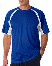 Badger 4144 Men short sleeve 2Tone Hook Tee at GotApparel