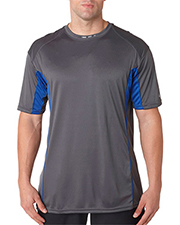 Badger 4147  Colorblock Short Sleeve Tee at GotApparel