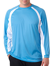 Badger 4154  Contrast L/S Perfect Tee at GotApparel