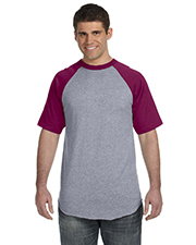 Augusta Sportswear 423 Men s 50/50 Short-Sleeve Raglan T-Shirt at GotApparel