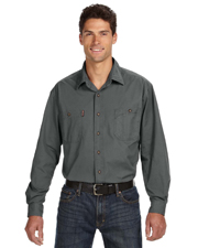 Dri Duck 4285 Men's Long-Sleeve Brick Workshirt at GotApparel