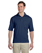 Jerzees 436P Men 5.6 oz., 50/50 Jersey Pocket Polo with SpotShield